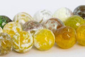 "10 mm Black /& White Dragon Veins Agate Round Gemstone Loose Beads 15/"""