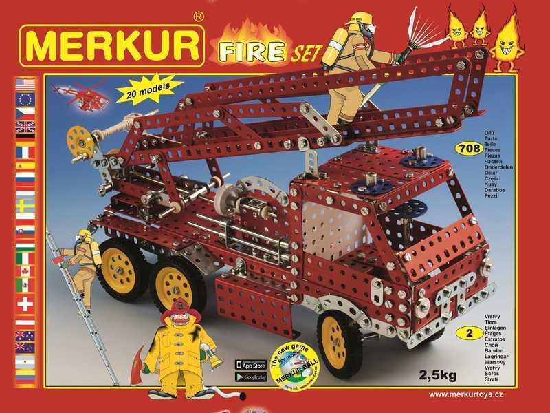 Metal construction set Merkur Fire, 2,5 kg, NEW, made in CZECH REPUBLIC