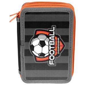PASO-3-FACH-Maeppchen-Federmappe-Federtasche-Federmaeppchen-Fussball-Football