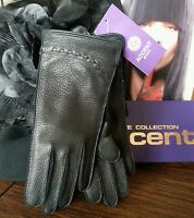 Chic Genuine Deer Leather Gloves, Color Black Size 6 3/4, 6 1/2(price For One)