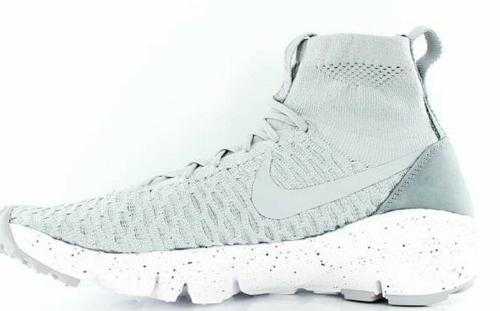 Nike Air 9 Footscape Magista Flyknit Uk 9 Air Wolf Gris Running Chaussures Bnib 816560 005 9e6ad9