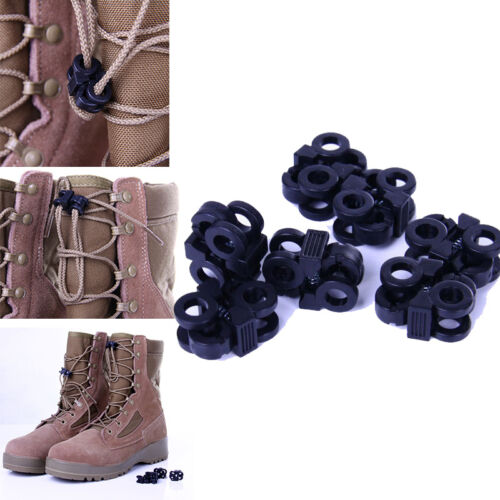 Camping Travel Kits 10pcs//lot Rapid Shoelaces Anti-skid Molle Tactical Camp Tool