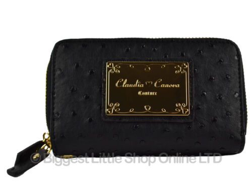 NEW Ladies WRIST Faux LEATHER PURSE by Claudia Canova Karoo Collection Gift Box