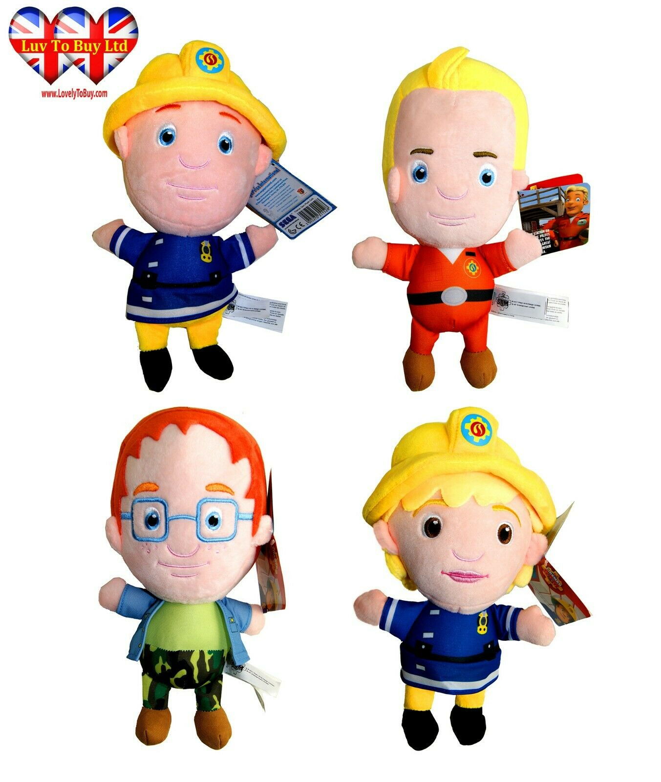 Fireman Sam plush character various characters, 11  Soft Toys,Official Licensed