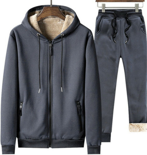 Details about  /Men Warm Tracksuit 2 Piece Casual Pants Jacket Sweatsuit Coat Sweatshirt Set