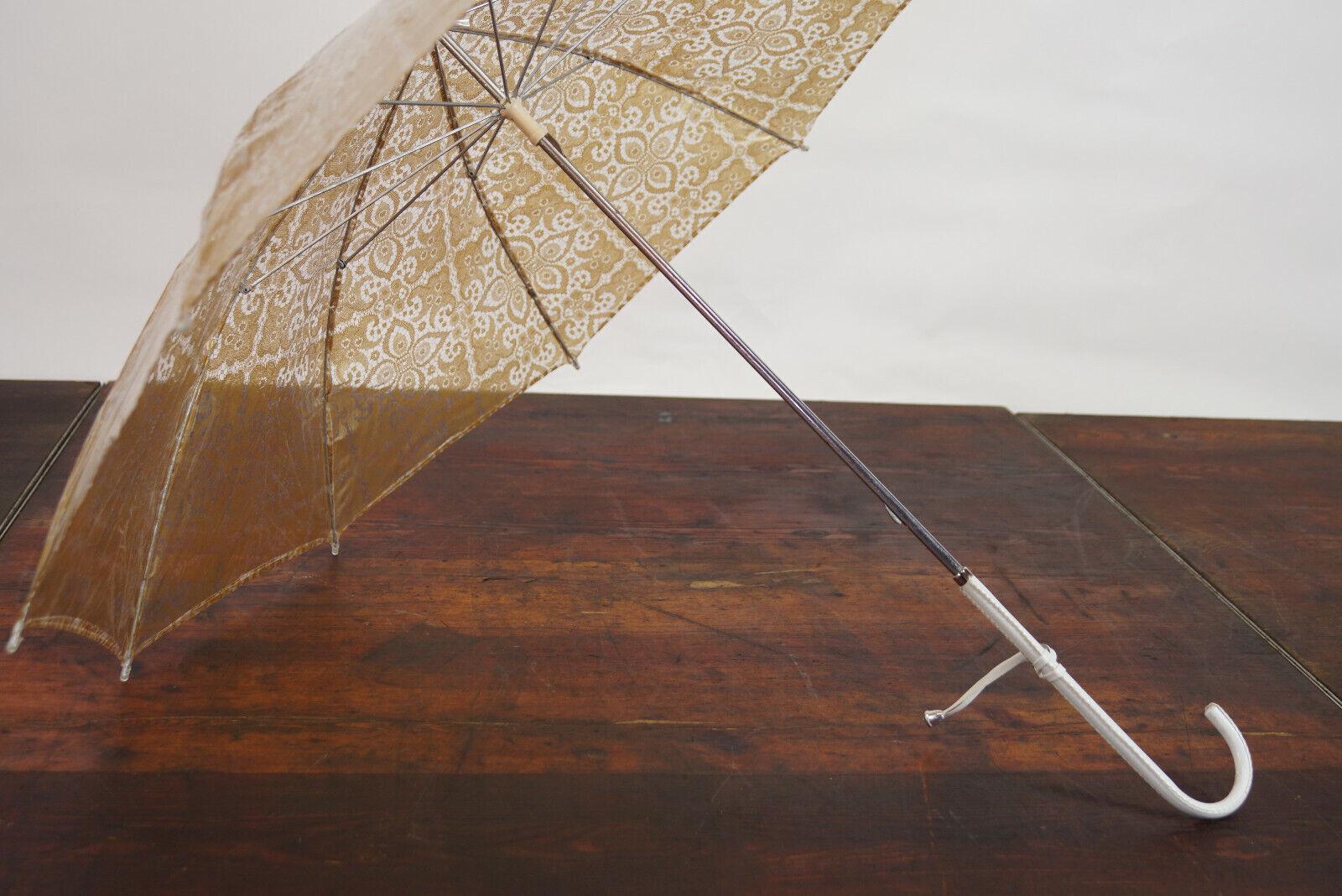 70er True Vintage Umbrella Retro Sunshade Umbrell… - image 6