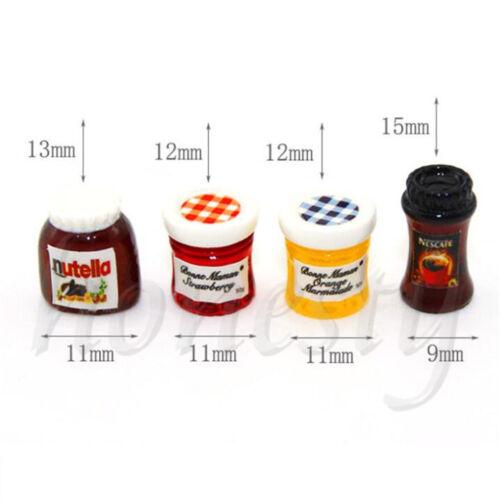 1pc Dollhouse Miniature 1:12 Kitchen Food Jam Coffee Condiment Random DIY Decor