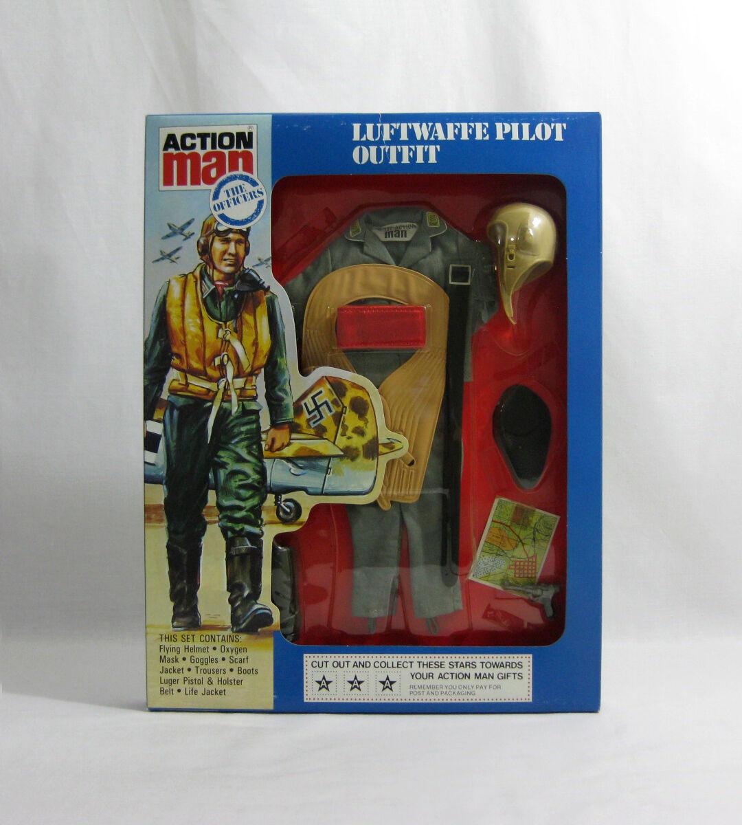 NEW 1981-84 Action Man ✧ Luftwaffe Pilot ✧ Vintage G.I Joe Outfit MOC