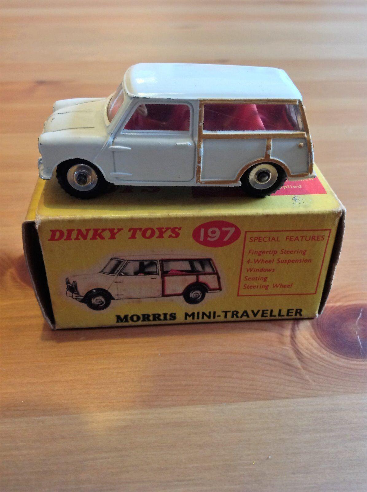 Dinky 197 Mini Morris Viajero original y sin uso No Atlas