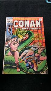 1971-MARVEL-CONAN-THE-BARBARIAN-7-VG-BRONZE-AGE-VINTAGE-ROY-THOMAS-BARRY-SMITH