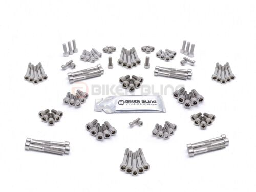 Honda CB500R 2002 stainless steel engine casing cover case motorcycle bolts kit