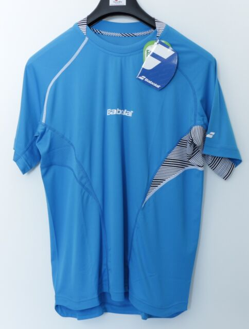 SALE: Babolat Performance Tshirt Blau schwarz - Funktionsshirt Tennis