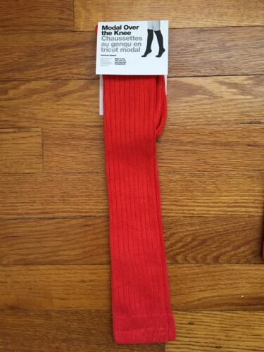 American Apparel Modal Ribbed Over the Knee Socks USA Made Vtg