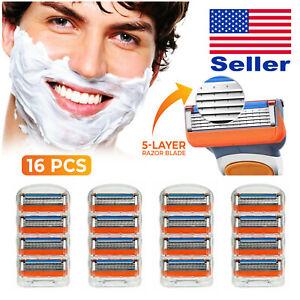 16-Refill-Cartridge-5-Blade-Razor-for-Gillette-Fusion-Proglide-Fast-Shipping-USA