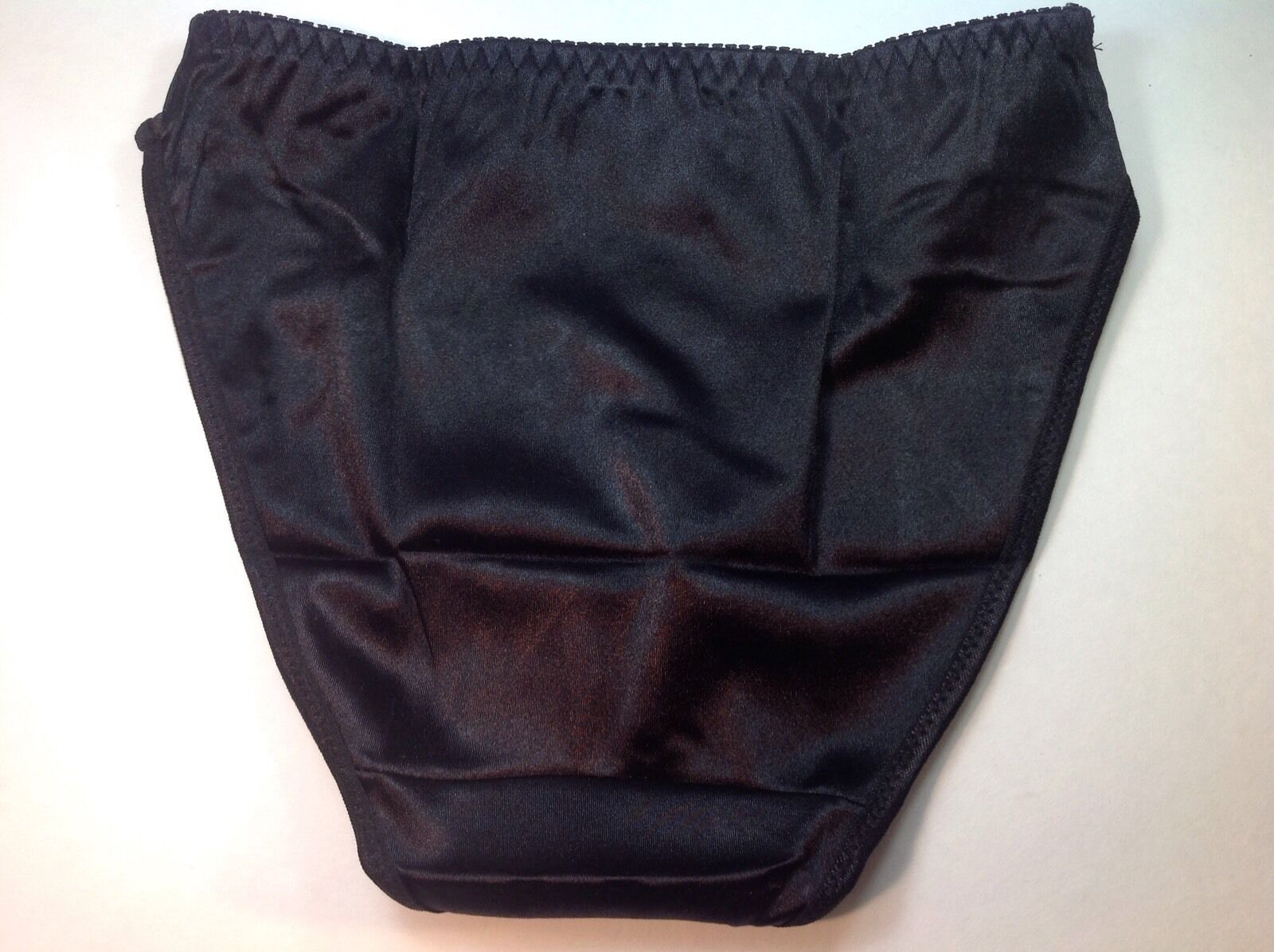 "Women Panties,Bikinis ""Eva Cervantes"" Size M. Black Satin Floral W/decoration"