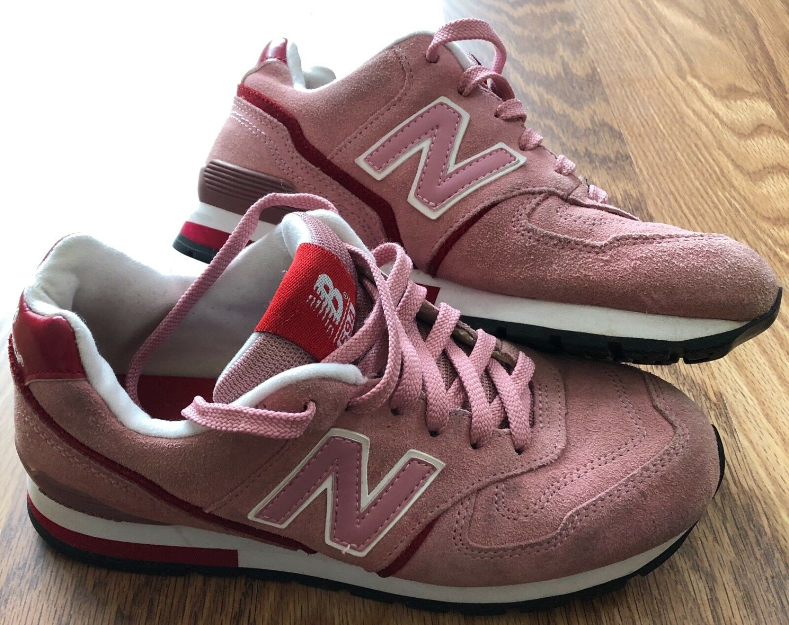 RARE NEW BALANCE 594 Pink and Red Suade Suade Suade Women's US 8 W594PRS 1aea50
