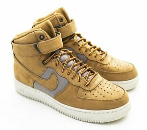 Mens Lifestyle   Nike Air Force 1 High '07 Premium WheatLight BoneYellow OchreKhaki