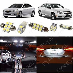 7x White LED lights interior package kit for 2011-2015 Chevy Cruze CC2W | eBay