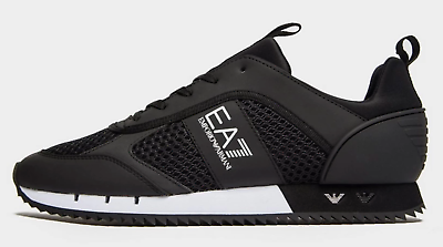 Mesh Run Black Trainers Shoes Size UK
