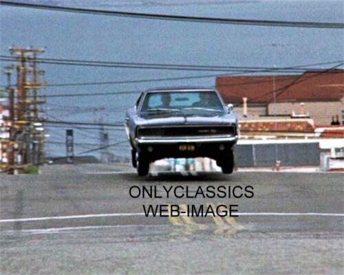 "1968 DODGE CHARGER FLIES THRU THE AIR STEVE MCQUEEN 8X10 /""BULLITT/"" MOVIE PHOTO"