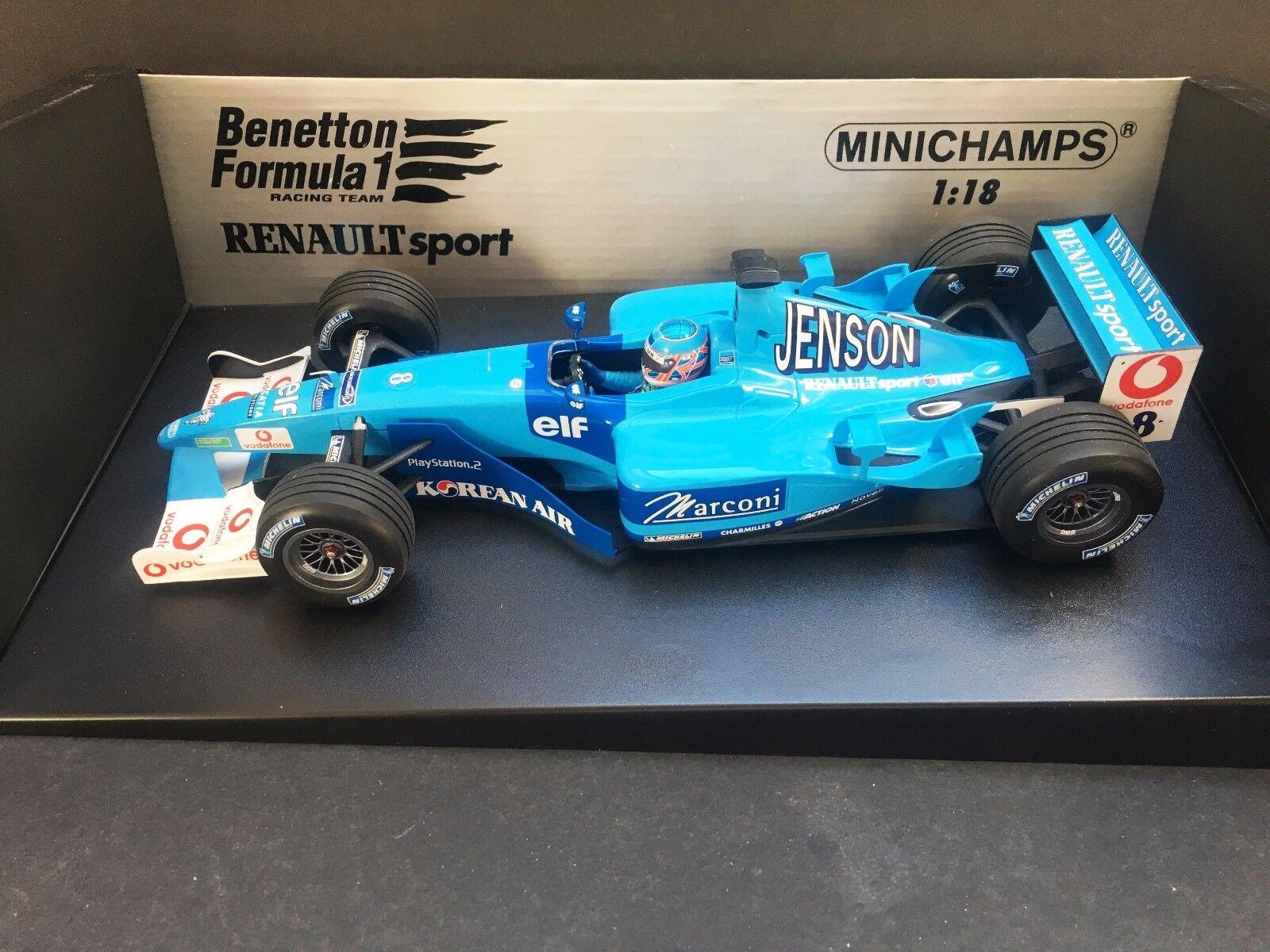 Minichamps - Jenson Button - Benetton - B201 -  1 18 - 2001 - Rare