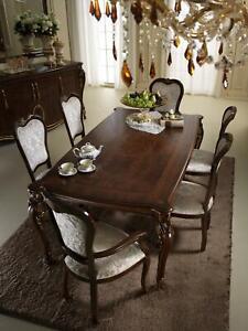 Dettagli su Classico 4 Sedie Design Sedie Legno Rifiniture Italiano Sala da  Pranzo Mobile