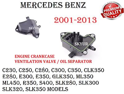 New Replacement for OE Crankcase Vent Valve Kit fits Mercedes C Class CLK E ML R SLK C230 C280 ML350