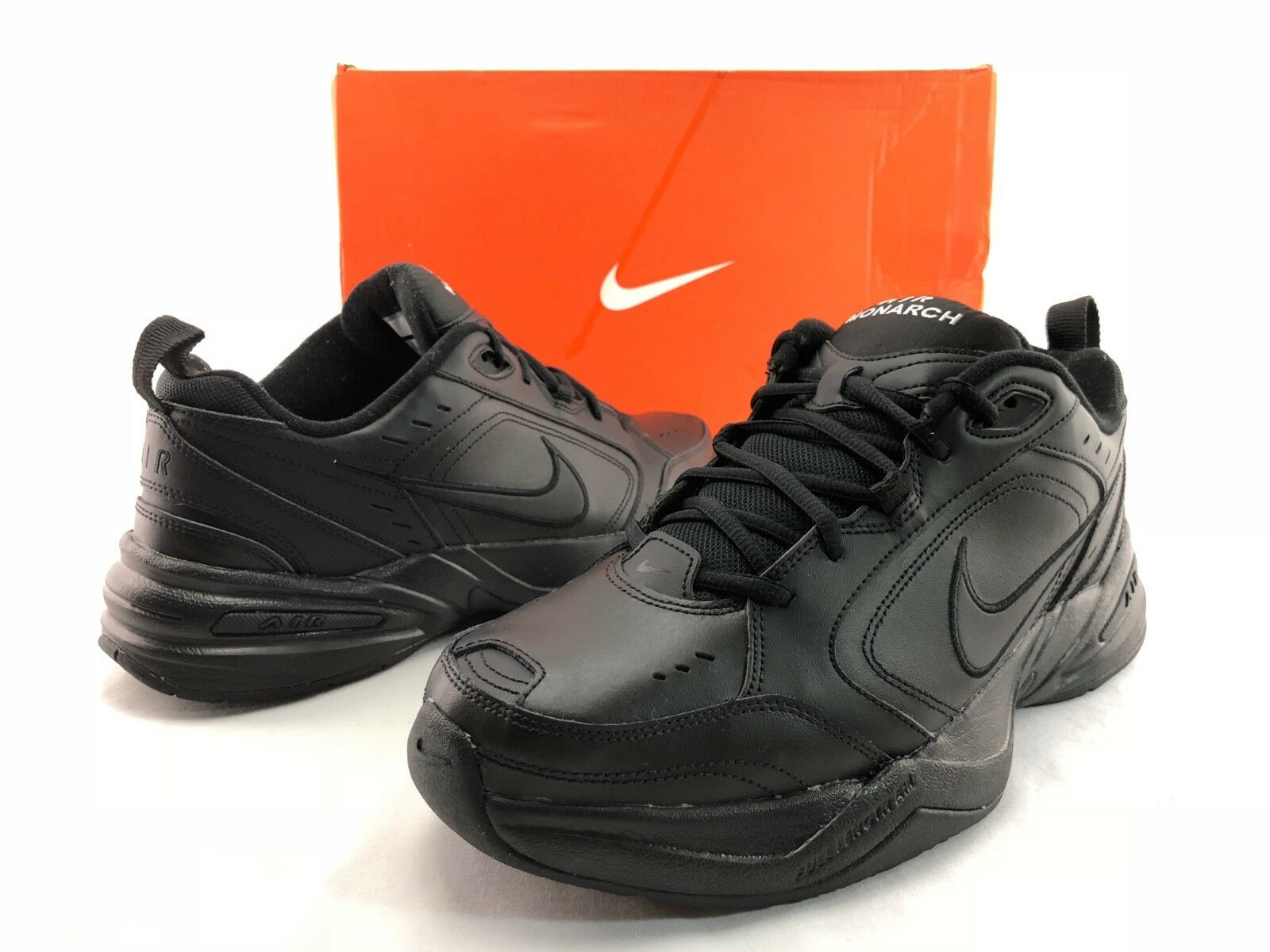 Nike AIR MONARCH IV Men's Black Comfort Lace Up Running Training shoes US 12 C52