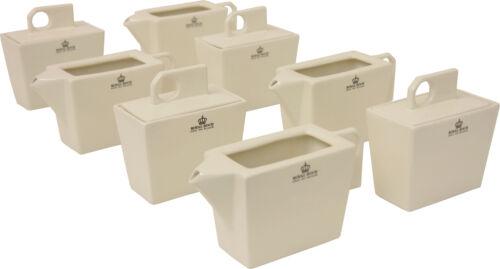 Royal Boch 4 Stück Zuckerdose und 4 Stück Milchkännchen als Set für Milch Zucker