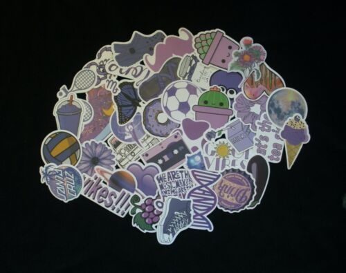QUICK SHIP! Details about  /Purple Stickers Lot 10 or 40 pcs Skateboard Scrap booking