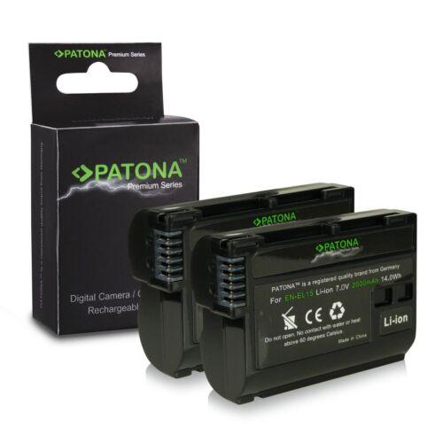 X2 batterie enel15 per nikon D7000 D7100 D7200 2000mah premium en-el15 patona