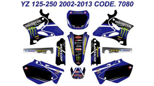 7080 YAMAHA YZ 125-250 2002-2014 Autocollants Déco Graphics Stickers Decals Kits