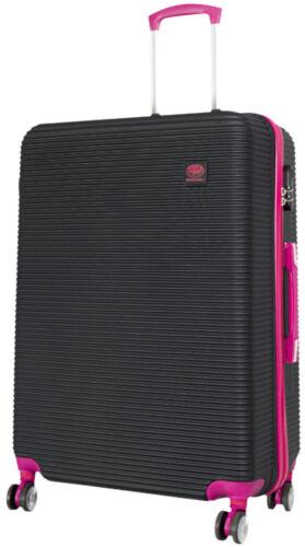 ABS valise-Coquille Dure type Santorin Attrayant DESIGN en Noir-Rose Set