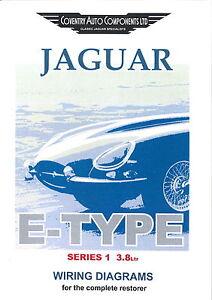 series 1 e type 3 8 jaguar exploded wiring diagram book 9190 ebay rh m ebay ie