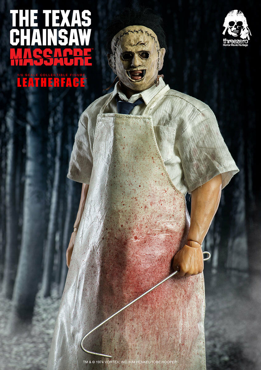 ThreeZero NEW  Lederface  Texas Chainsaw Massacre 12-Inch Figure Horror 1:6