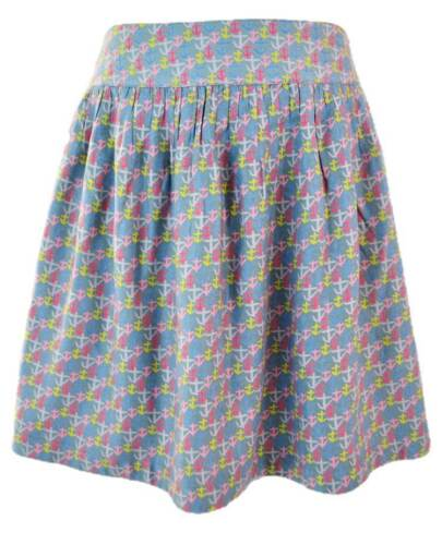 Seasalt soft blue anchor print snipe skirt new size 8 10  16 Sea Salt designer