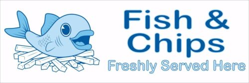 FISH AND CHIPS CATERING SHOP ADVERTISING OUTDOOR PRINTED PVC BUSINESS  BANNERS