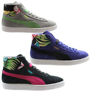 Image is loading Puma-Suede-Mid-Classic-Tropicali-Womens-Mens-Trainers- 6618548c91
