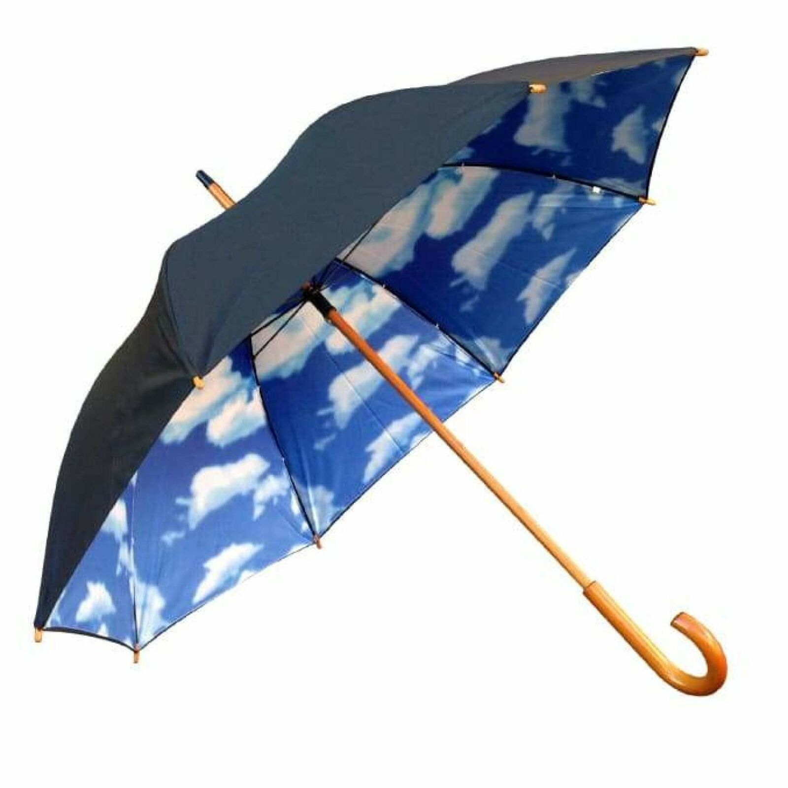 UPF 50+ Willow Tree Big Blue Sky Cloud Print Umbrella