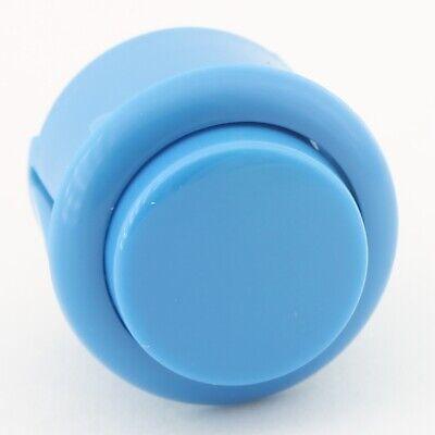 Bouton arcade Bleu 28mm à visser microswitch intégré envoi de France