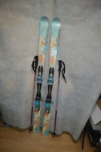 SKI-ROSSIGNOL-PASSION-TAILLE-154-CM-FIXATION-90-BATONS-HOUSSE-WEDZE-SCI