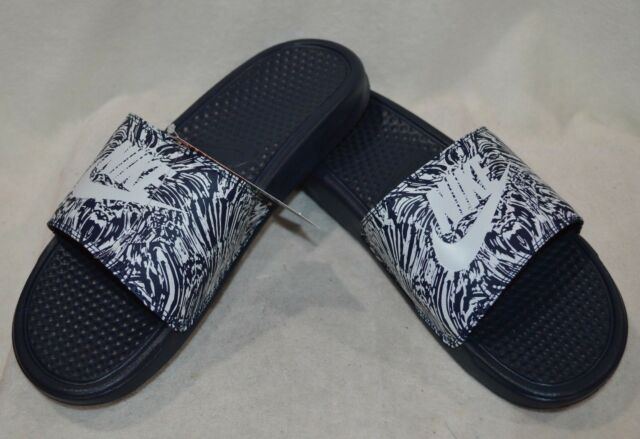 best website d2bb9 df8c3 Nike Benassi JDI Print Obsidian Platinum Men s Slide Sandals-Sz 8 9