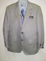 Jos. A Banks $695 Light Gray Silk Camel Hair Blend 2 Button Blazer 38 Short