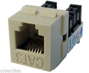 cat3 keystone jack mig high density rj11 phone jack ebay. Black Bedroom Furniture Sets. Home Design Ideas
