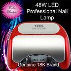 *PRO* 48W 18K LED Gel Nail Polish Light/Lamp▴30s Cure UV Gel,Shellac, Gelish etc