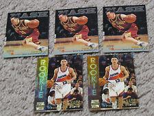 (5) STEVE NASH ROOKIE RC Cards Topps Stadium Club Score Board Phoenix Suns NBA