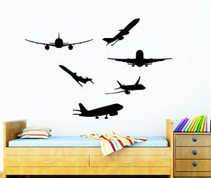 Image Is Loading Airplanes Wall Decals Kids Plane Decal Nursery Vinyl