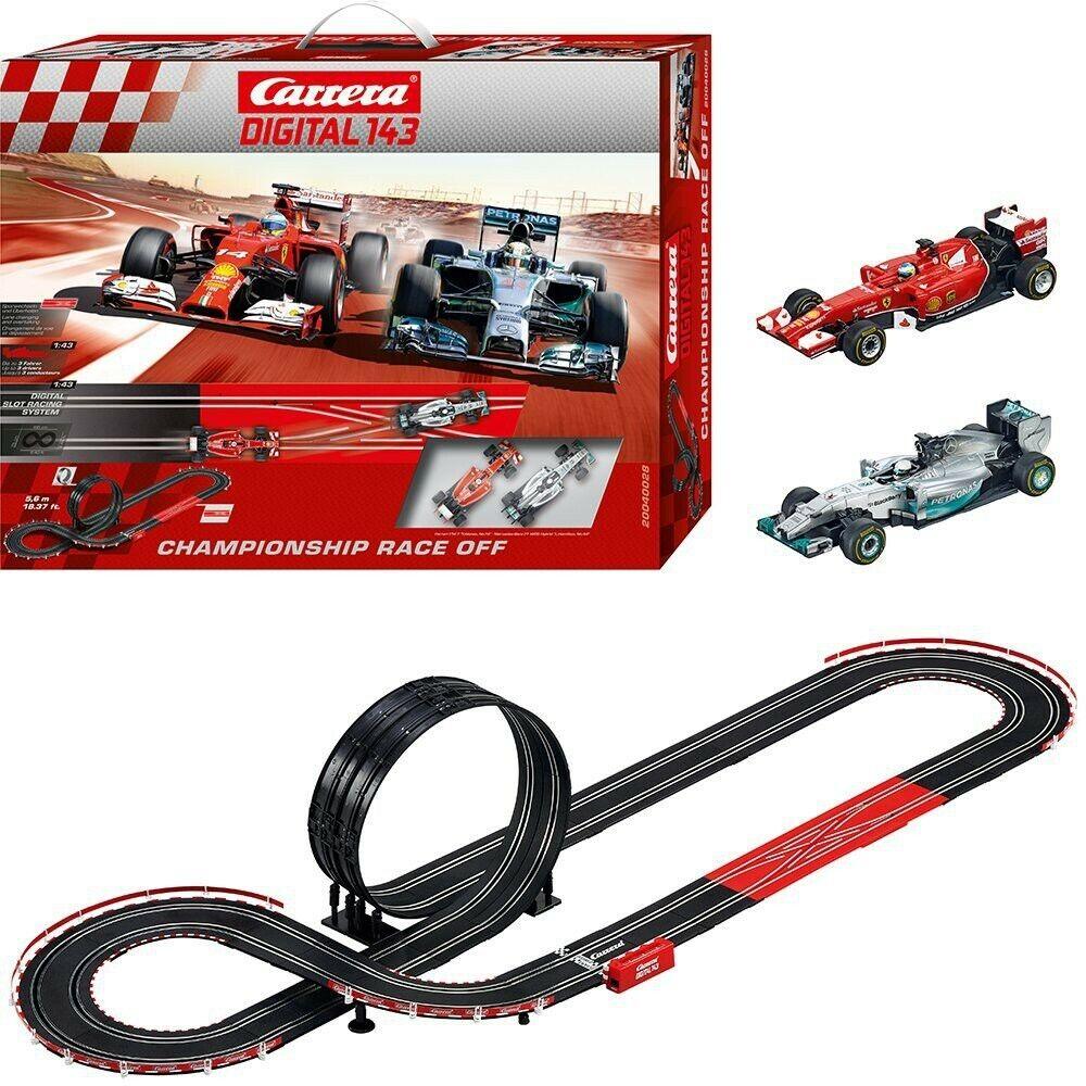 BOX rojoTO PISTA Elettrica CHAMPIONSHIP FERRARI MERCEDES 143 Auto 1 43 Carrera