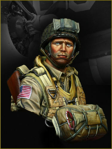 Young Mins US Paratrooper 82nd Airborne YM1824 1944 Bust Unpainted Kit
