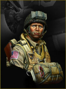 Details about Young Mins US Paratrooper 82nd Airborne YM1824 1944 Bust  Unpainted Kit